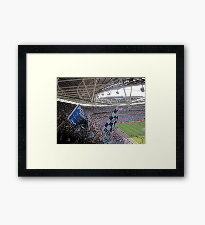 It was a Blue Blue day in Wembley Framed Print