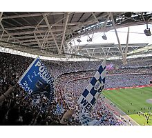 It was a Blue Blue day in Wembley Photographic Print