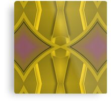 Patterns and Shapes Gold and Lavender Metal Print