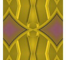 Patterns and Shapes Gold and Lavender Photographic Print