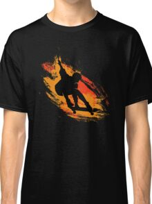 Skater - Skate Paint Brushes Distressed Design Classic T-Shirt