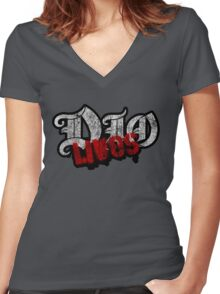 Dio Lives Women's Fitted V-Neck T-Shirt