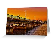 Sunset over Harvard Bridge Greeting Card