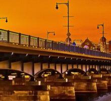 Sunset over Harvard Bridge Sticker