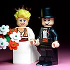 Lego Bride and Groom ( with top hat ) by Kevin  Poulton - aka &#x27;Sad Old Biker&#x27;