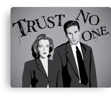 Enter the X-Files Canvas Print