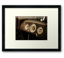Retired Gauges Framed Print