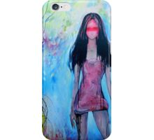 Girl In Rose Colored Dress iPhone Case/Skin