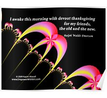 Devout Thanksgiving for my Friends Poster