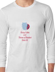Keep calm cat-bug Long Sleeve T-Shirt