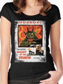 Night of the Demon Women's Fitted Scoop T-Shirt