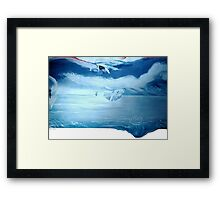 Grace Under Pressure Science Fiction RUSH album cover Acrylic painting by Rick Short Framed Print