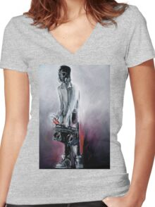 Graf Dude Women's Fitted V-Neck T-Shirt