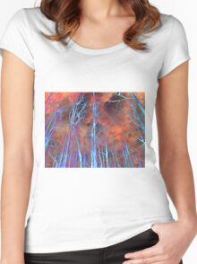 Ice Tree Abstract Women's Fitted Scoop T-Shirt