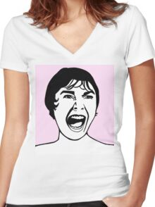 Janet Leigh Psycho Women's Fitted V-Neck T-Shirt