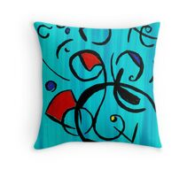 Blue Jazz at Noon Throw Pillow