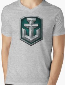 World of Warships Logo Mens V-Neck T-Shirt
