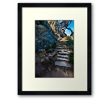 Creepy Stairs Framed Print