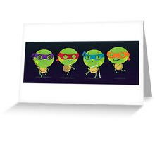 Little turtles Greeting Card