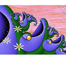 Inner Child - Happiness is Being a Purple Fish Photographic Print