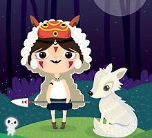 Princess Mononoke by mjdaluz