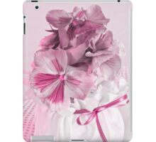 Pink Pansies In Ribboned Pot iPad Case/Skin