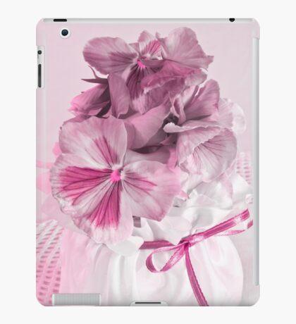 Pink Pansies In Ribboned Pot iPad Case/Skin