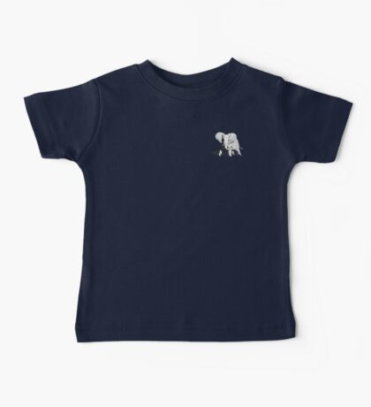 Stippled Elephant on Black Baby Tee