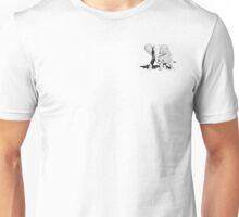 Stippled Elephant on Black Unisex T-Shirt