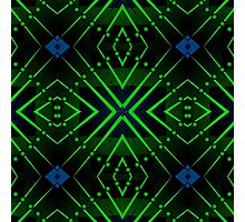 Patterns and shapes Blue and Green Photographic Print