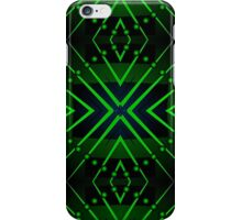 Patterns and shapes Blue and Green iPhone Case/Skin