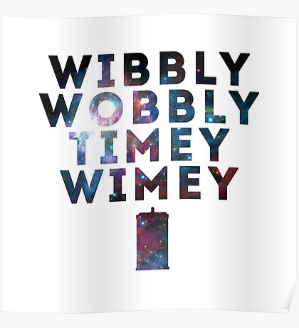 Wibby Wobbly Poster