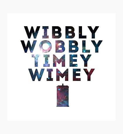 Wibby Wobbly Photographic Print