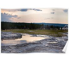 Yellow Stone Geysers Poster