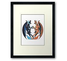 Mega Charizard X and Y Framed Print