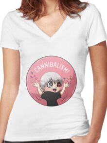 Cannibalism! Women's Fitted V-Neck T-Shirt