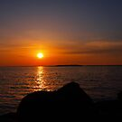 island sunset by Cheryl Dunning
