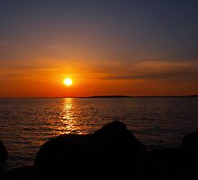 island sunset by Cheryl Dunning