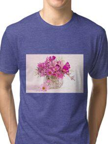 Cosmos - Summers Last Bouquet  Tri-blend T-Shirt