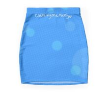 Blue Bubbles Pattern- colormymemory Mini Skirt