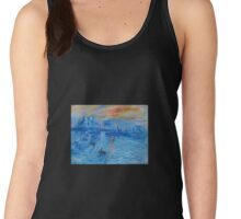 Impression, Sunrise Monet painting Soleil Levan Women's Tank Top