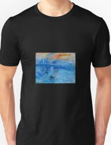 Impression, Sunrise Monet painting Soleil Levan Unisex T-Shirt