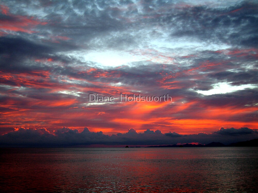 A Fiery Sunset by Diane  Holdsworth