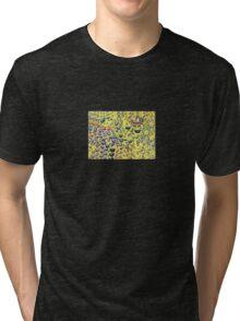 Droplets on Yellow Tri-blend T-Shirt