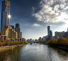 Yarra River - from St Kilda Road by CB Peh