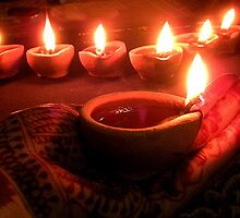 """"""" Divine diyas on Diwali """"  by Amrit Ammu"""