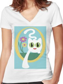 Here I Come Women's Fitted V-Neck T-Shirt