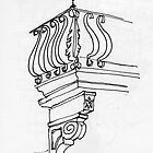 Italy - A balcony detail in Assisi by James Lewis Hamilton