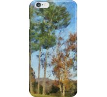 Tall Trees Against A Blue Sky iPhone Case/Skin