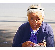 Saigon Stall Lady Photographic Print